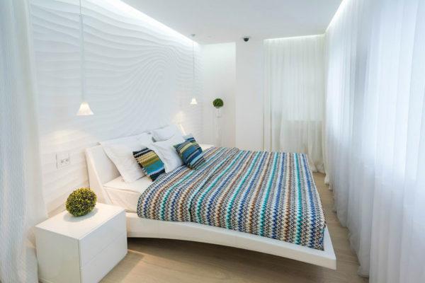 оформление спальни в белый цвет