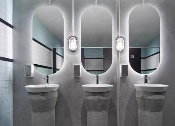 умывальники с зеркалами
