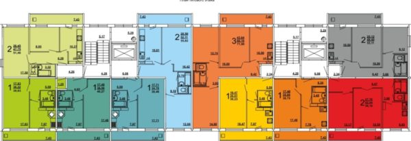 Планировка квартир в домах серии I-464Д