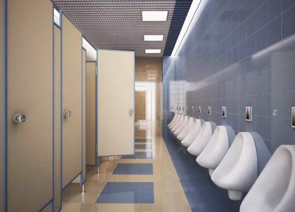 планировка мужского туалета