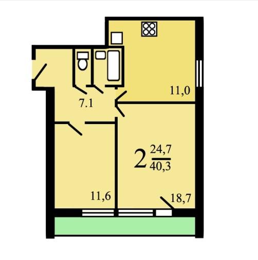 Расположение комнат в двушке