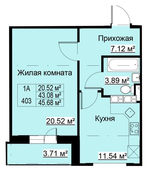 Квартира с улучшенной планировкой