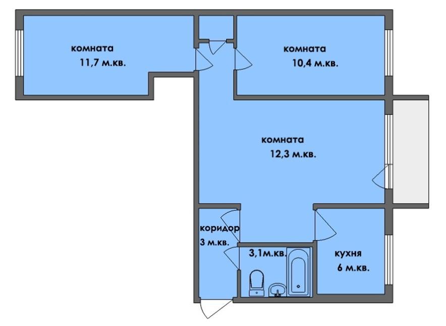 Проходной зал в квартире