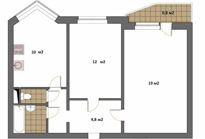 Квартира в доме серии П44Т
