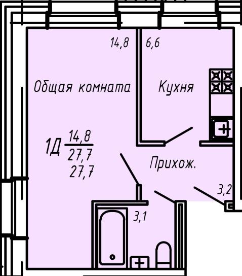 Угловая квартира без балкона